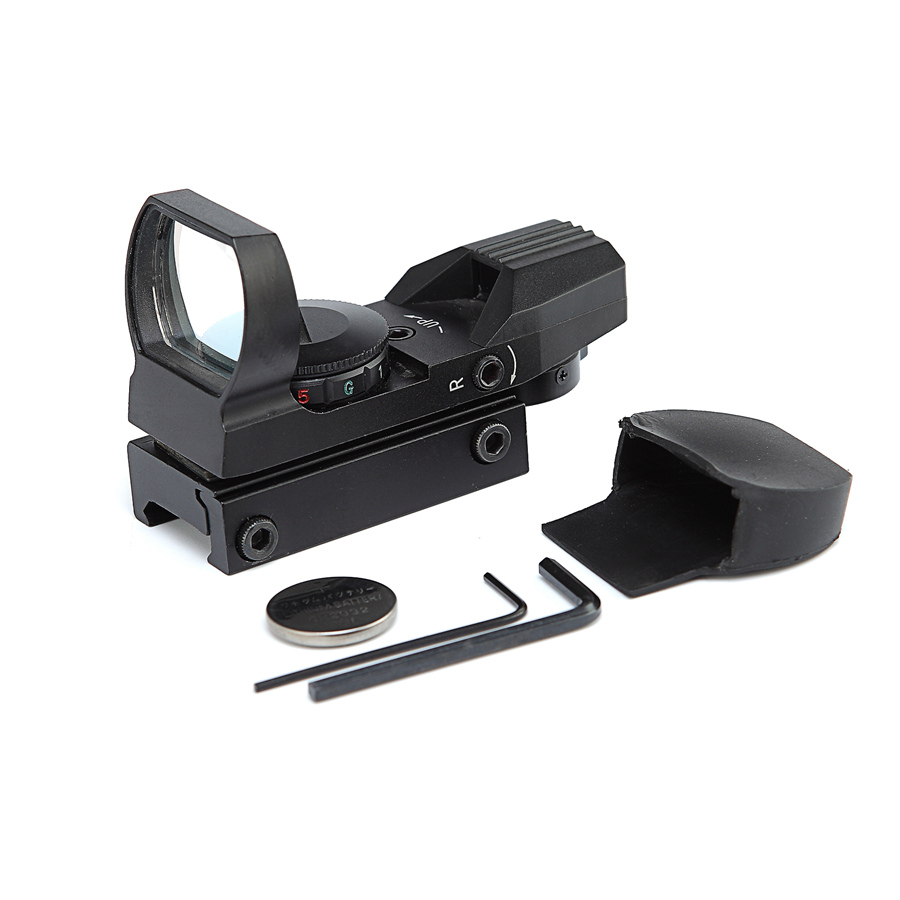 Independent Air Soft Riflescope Hunting Holographic Red Green Dot Sight Reflex 4 Reticle Tactical Scope Gun Hunting Accessories Gun Pistol