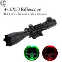 Red Green Illuminated Reticle Rifle Tactical 4 16X50 EG Good Vision Sight Scopes Air Gun Riflescope Outdoor Hunting Shooting Use