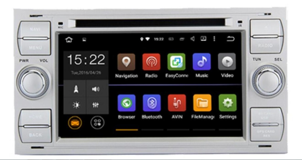 2din Android 8.1 DAB+Car DVD Player In Dash For Ford Transit Focus Connect S MAX Kuga Mondeo With QuadCore Wifi 4G GPS Bluetooth