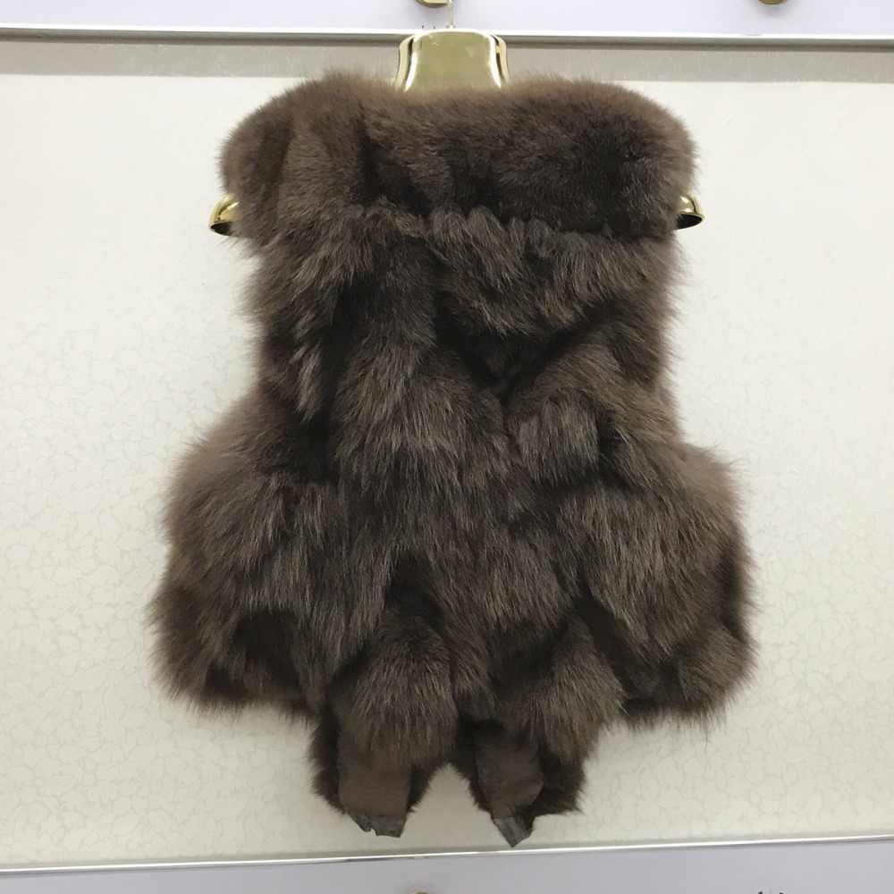 2020 yeni stil 100% gerçek doğal tilki kürk yelek birçok renk moda kış kolsuz gibi tüm Fox Coats kaliteli kürk jile
