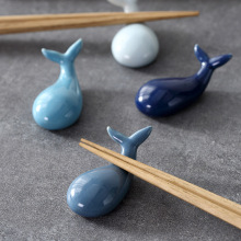 1 pcs Cute Whale Shape Ceramic Chopsticks Holders Spoon Fork Holder Stand Fashion Kitchen Tableware