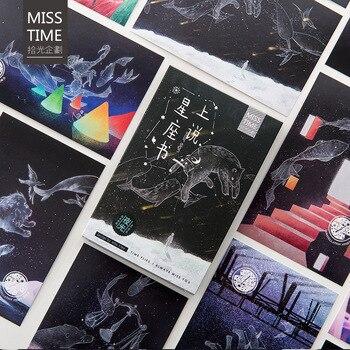 30 blätter/Set Kreative Sterne Zeichen Leucht Postkarte/Gruß Karte ...