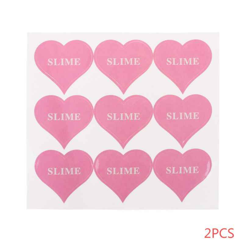 18pcs Heart Shape Slime Containers Sticker Storage Box Sticker Slime Supplies DIY Accessories Christmas Gifts