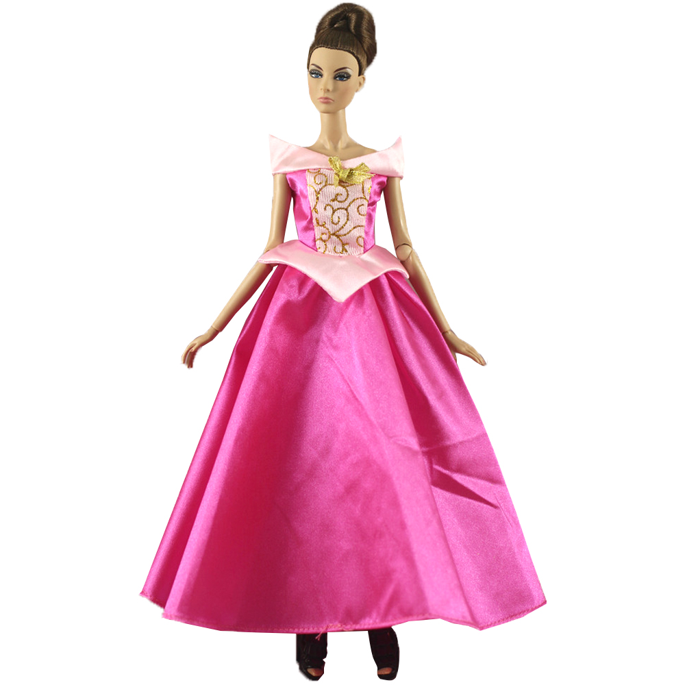 NK Princess Rapunzel Doll Dress Fairy Tales Doll Gown Cosplay Cloak Outfit For Barbie Doll Accessories DIY Toys N005G