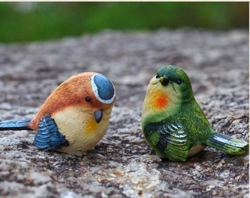 Lovely resin bird crafts artificial birds garden home for Fake birds for crafts