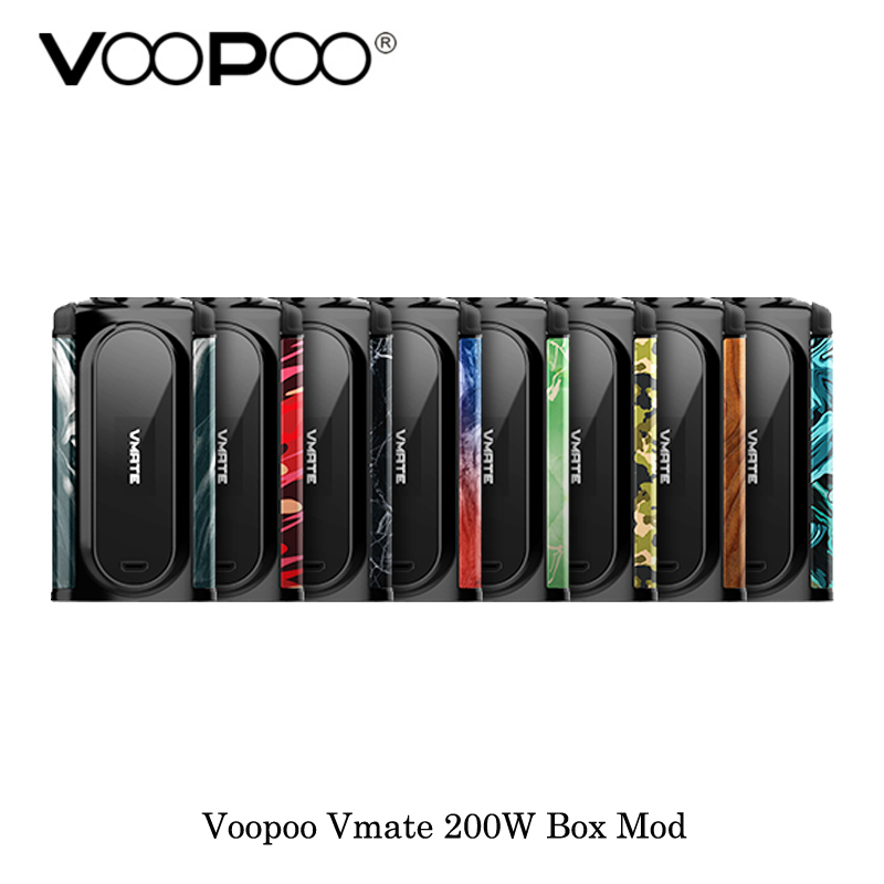 electronic cigarette Voopoo Vmate 200W TC Box Mod Balance Charge Powered By Dual 18650 Battery Vape Vaporizer VS Drag Box mod