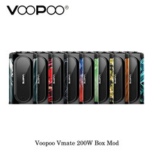 electronic cigarette Voopoo Vmate 200W TC Box Mod Balance Charge Powered By Dual 18650 Battery Vape Vaporizer VS Drag Box mod(China)