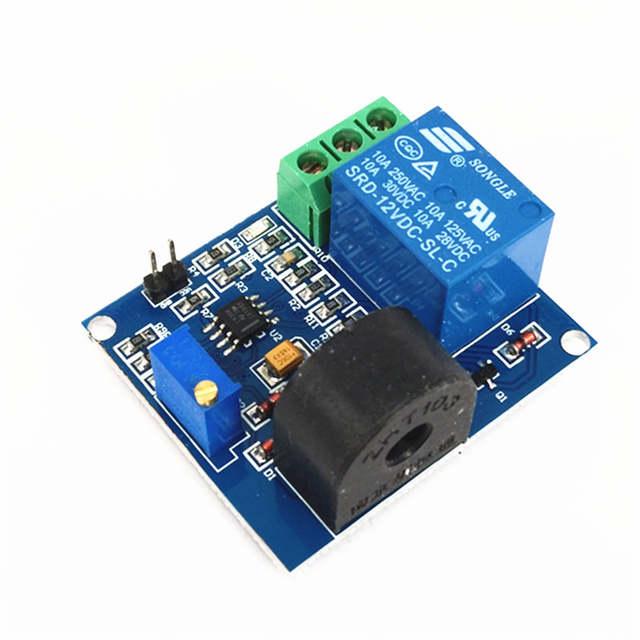 12V relay module 5A overcurrent protection sensor module AC current  detection sensor For arduino