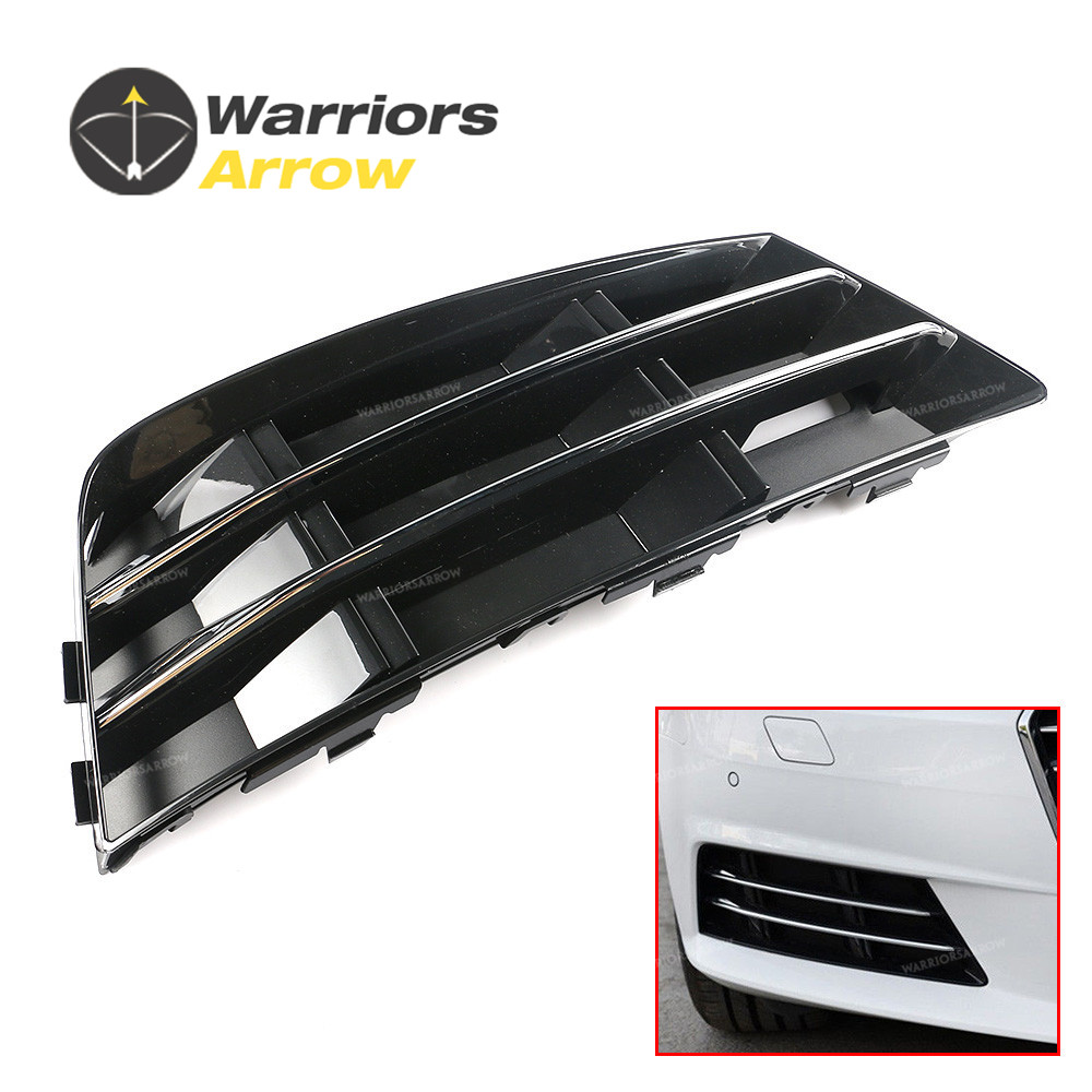 8W0807682R For Audi A4 B9 2016 2017 Right Side Fog Light Grille Cover Trim Chrome