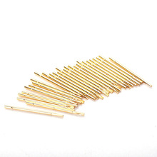 100 PCS Round Double Tube Gold Plated Spring Test Probe RM75-3S Length 35.8mm Needle Diameter 1.32mm Power Tool