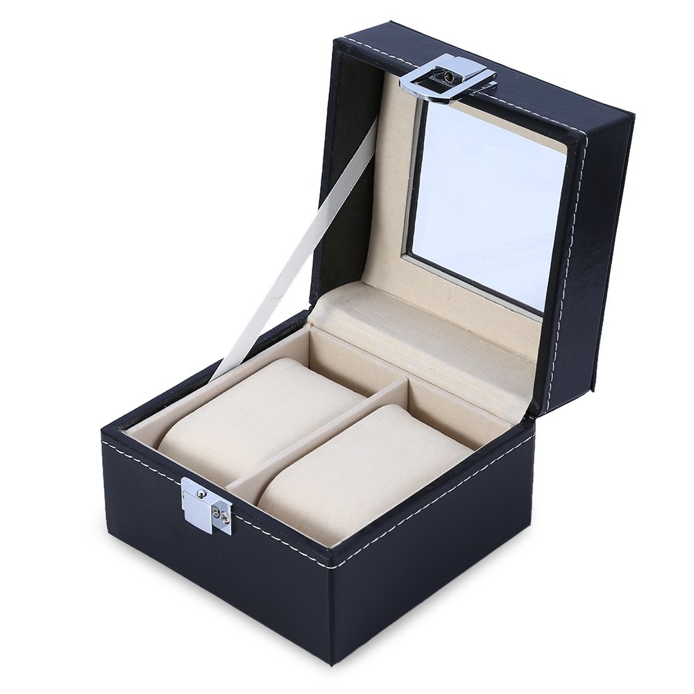 fc03f8aca Creative Watch Boxes Portable Travel Watch Case 2 Slot Wristwatch Box  Storage Fashion Watch Boxes Jewelry Organizer Gift reloj-in Watch Boxes  from Watches ...