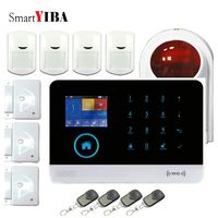 SmartYIBA Wireless wifi GSM Alarm Systems Android IOS APP Alarms Home Security System free shipping
