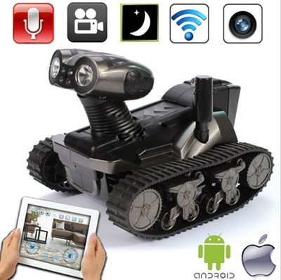 2015 New Arrival Wi-Fi RC Tank with Camera for iOS and Android, 6 LED Spotlight, Video, Photographs and Monitoring Eavesdropping