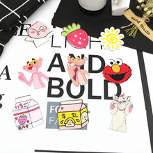 1Pcs Lucu Kartun Strawberry Marie Cat Sun Pink Panther Lencana Ransel Akrilik Lencana Pakaian Ikon Di Ransel Pin Bros(China)
