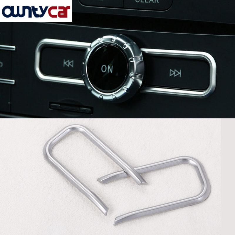 Mat ABS krom CD dekorasyon şeritleri Trim için Mercedes Benz A/B/GLA/CLA/GLE sınıf c117 W117 15-17 AMG araba-şekillendirici 2 adet set