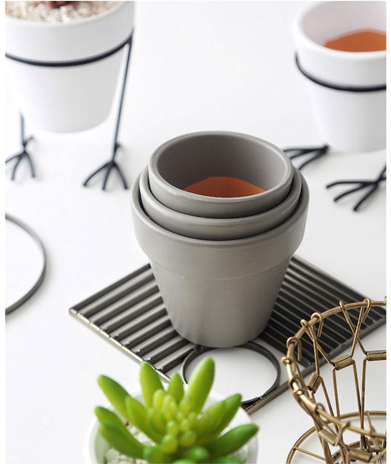 frango design prateleira de ferro jardim de fadas vaso de flores