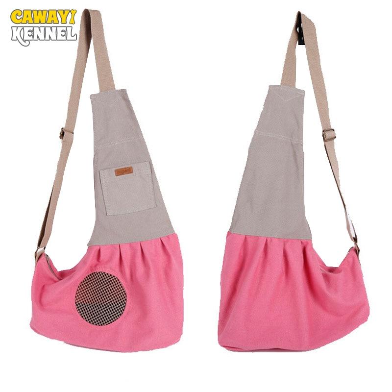 CAWAYI KENNEL Portable Pet Carrier Cat Backpack Messenger Bag Puppy Doggy Single-Shoulde ...