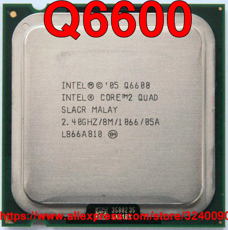 Original Intel CPU CORE 2 QUAD Q6600 Processor 2.40GHz/8M/1066MHz Quad-Core Socket 775 free shipping speedy ship out