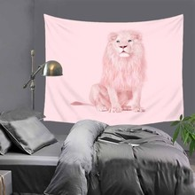 Lion cat Elephant Floral Astronauts Tapestries Colorful Psychedelic Indian Tapestry Wall Hanging Printed Decoration