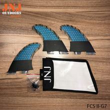 JNJ top quality Carbon fiber FCS II L G7 surf fins Tri-set G7 FCS 2 L fin with strong jnj bag