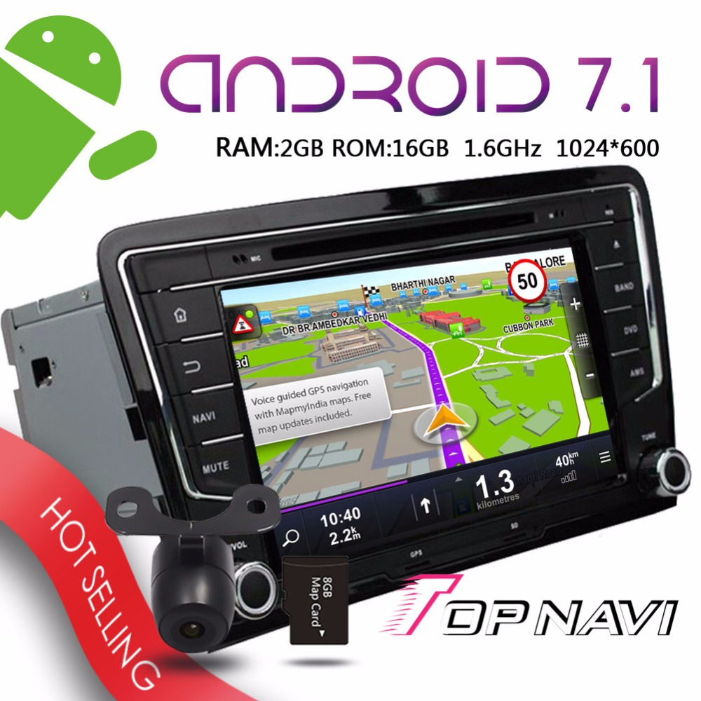Topnavi 8 Android 7 1 Vehicle Players for Toyota Santana 2013 Automotive Car 2GRAM 16GROM Wifi