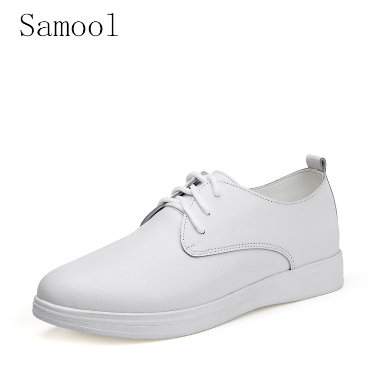 spring Autumn women oxford shoes flats shoes women leather lace up boat shoes round toe flats moccasins fashion party shoes k3 2017 fujin new oxford shoes women spring autumn split leather oxford shoes flats shoes woman ladies shoes lace up