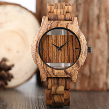 2017 New Handmade Bamboo Quartz Wrist Watch Fashion Novel Men Unique Wood Hollow Modern Women Creative Watches Gift reloj hombre