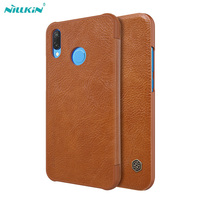 For Huawei P20 Lite Case Original Nillkin Qin Retro PU Leather Flip Case Cover For Huawei