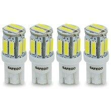 Safego 4x T10 W5W LED لمبة 10 7020 مصلحة الارصاد الجوية 194 168 2825 T10 إسفين استبدال أضواء T10 إشارة بيضاء جذع لوحة القيادة وقوف السيارات مصابيح