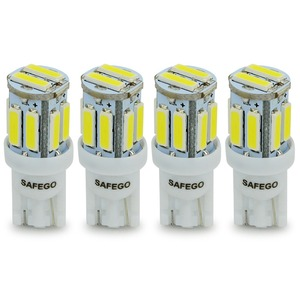 Image 1 - Safego 4x T10 W5W LED 電球 10 7020 SMD 194 168 2825 T10 ウェッジ交換ライト T10 白信号トランクダッシュボード駐車ランプ