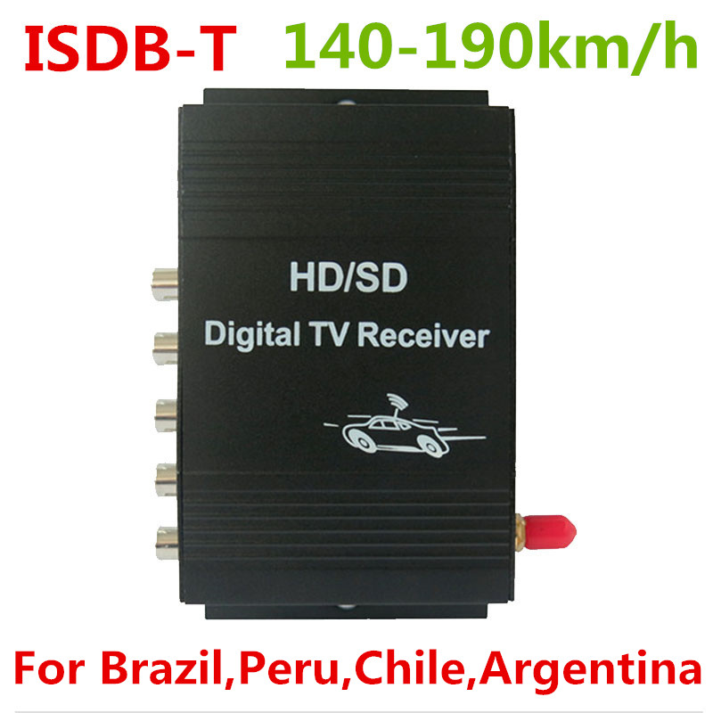 Car ISDB T Digital TV Tuner Receiver Box Support 140 190MHz For Brazil Chile Peru Argentina
