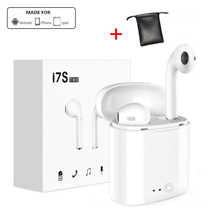 I7S TWS V4.2 Wireless Bluetooth Earphones Music Earbuds Pair In-Ear Set For Apple IOS iPhone 6 7 Samsung Android Phone Factory tws wireless earphones bluetooth earphone pair in ear music earbuds set for apple iphone 6 7 samsung xiaomi sony head phone md1