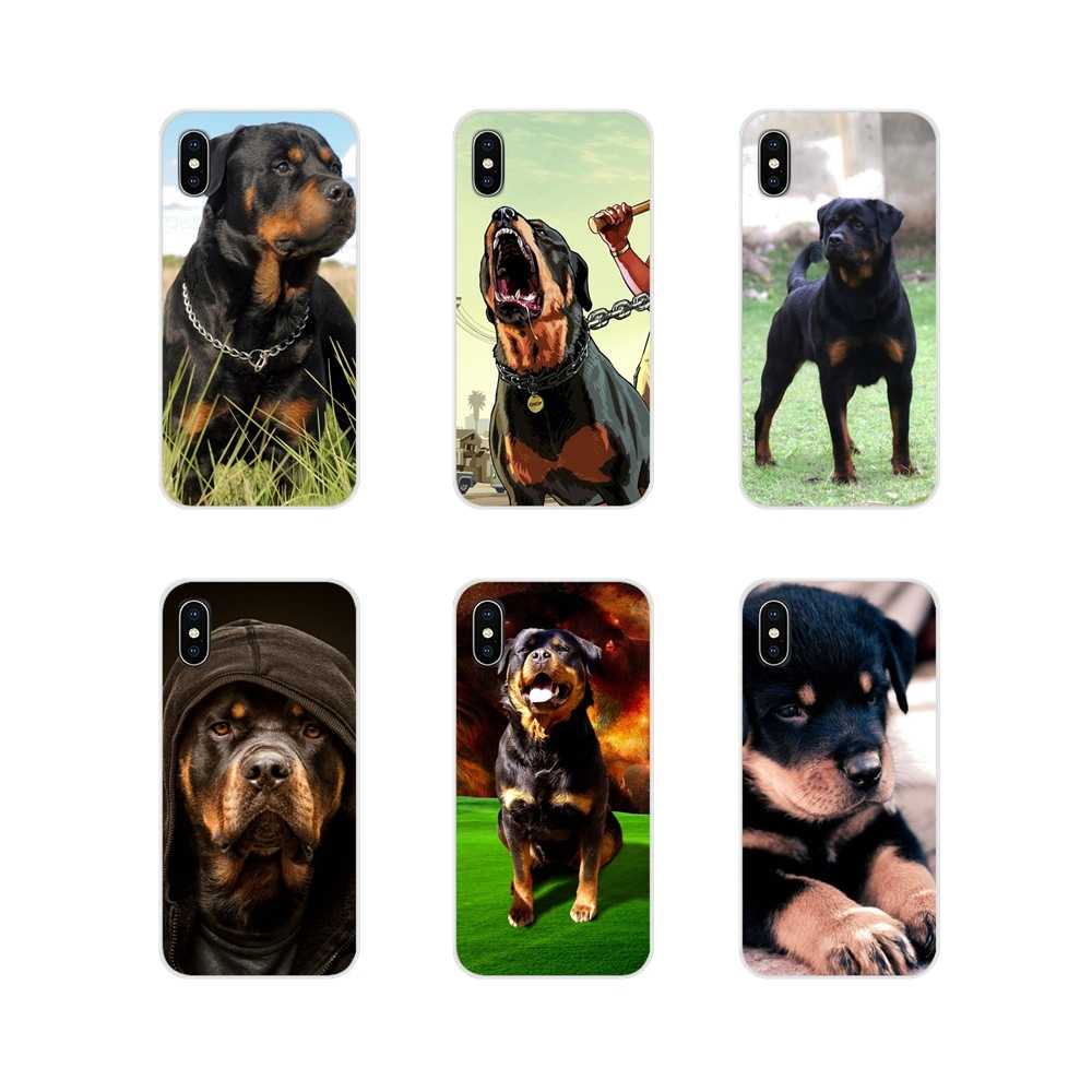Para Huawei G7 G8 P7 P8 P9 P10 P20 P30 Lite Mini Pro P Smart Plus 2017 2018 2019 Macio transparente Casos Covers Rottweiler dog art