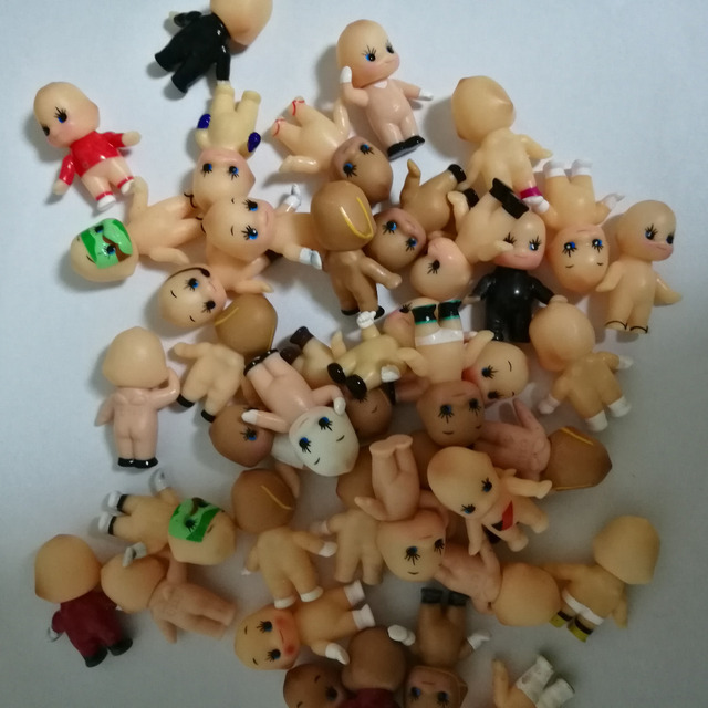 Hot sale ! mini cute/lovely baby doll  home decoration plastic craft 20pcs/a lot  21402