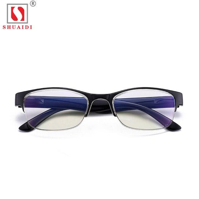 30043be1989 Ultra-Light Glasses Half Frame Resin Lenses Reading Glasses Anti Fatigue  Eyewear Presbyopic Eyeglasses with Case