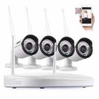 ANNKE Kit 960P HD 4 Pcs Cameras IP 8CH POE NVR CCTV Home Security System