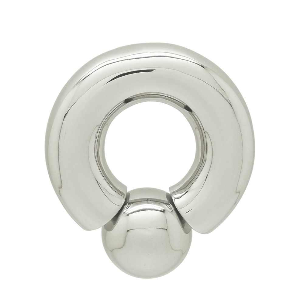 Anillo de perforación de acero inoxidable de 4 mm a 12 mm de grosor, joyería corporal, medidor grande de perforación de titanio para pezón genital
