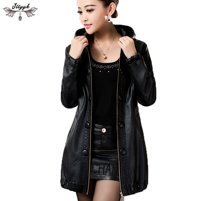 L-5XL Plus Size Leather Coat Women Leather Clothing Faux Sheepskin Autumn Jackets And Coats For Women Leather Jacket Coat L436 plus size women in leather