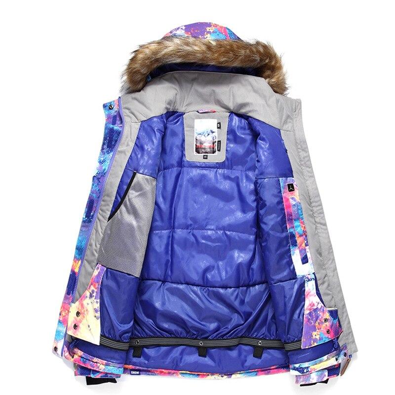 GSOU SNOW combinaison de Ski femme extérieur hiver imperméable respirant coupe-vent chaud veste de Ski manteau de neige pour femme taille XS-L - 5
