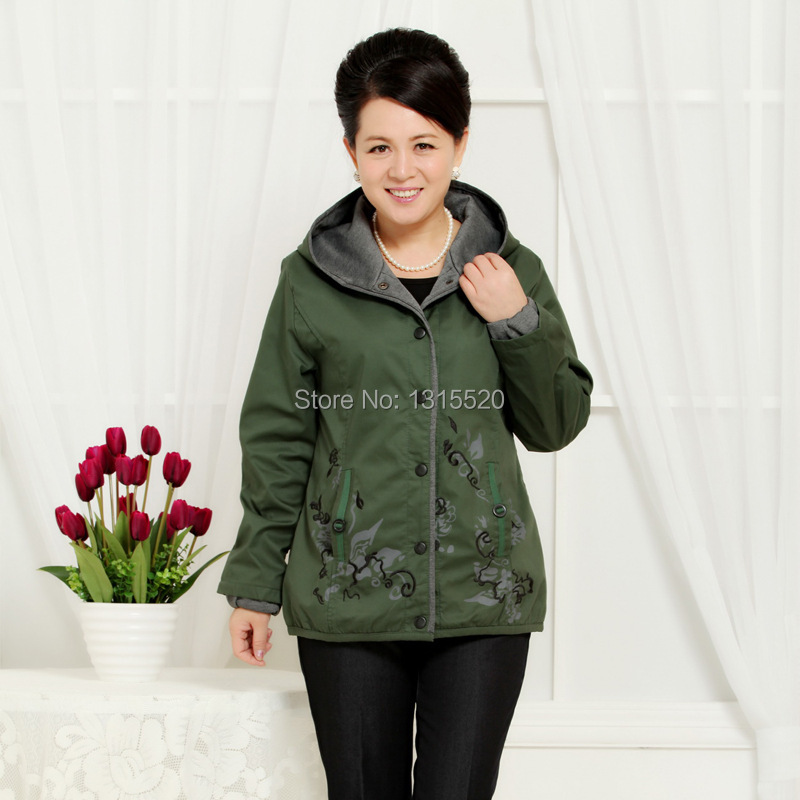 Jackets padded middle aged ladies jackets large new mother dress code Embroidered jacket Autumn feng59