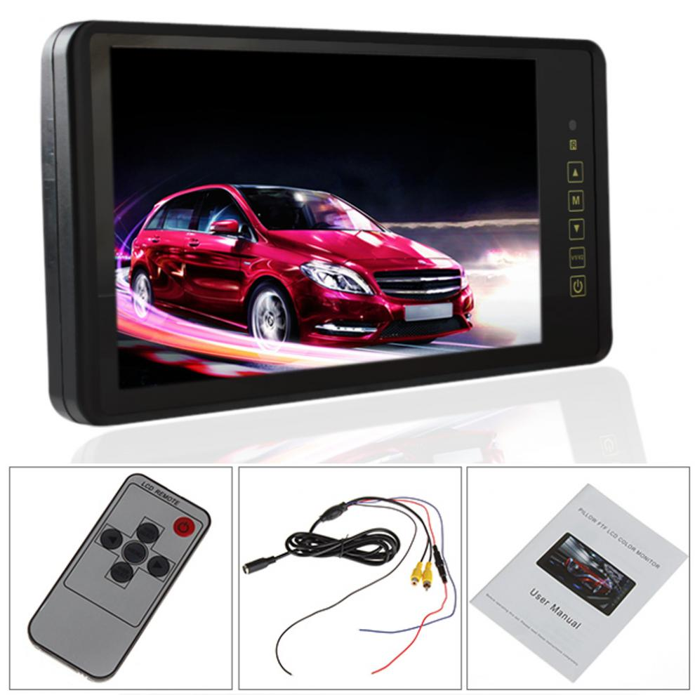 9 Inch HD TFT LCD Display Screen Car Rearview Mirror Monitor with Touch Button PAL / NTSC with Remote Control haisunny 9 inch tft lcd car monitor 4 split screen headrest rearview monitor with rca connectors 6 mode display remote control