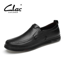 CLAX Mens Shoes Genuine Leather 2019 Summer Mans Loafers Leisure Walking Footwear Male Moccasins Breathable