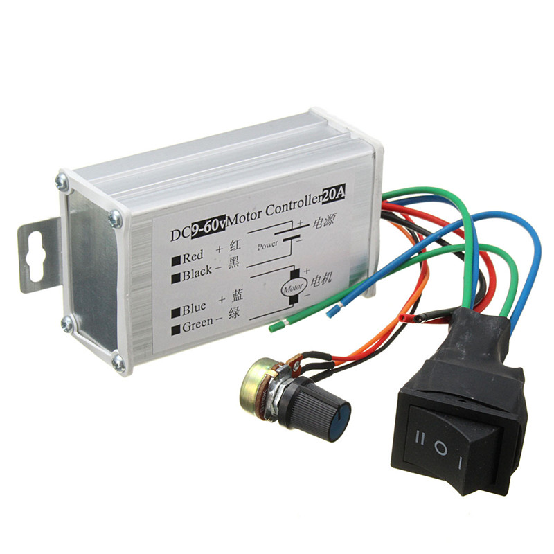 DC 12V 24V 36V 48V Soft Start Reversible Motor Speed Control PWM Controller PWM New Arrival panlongic hand twist grip hall throttle 100a 5000w reversible pwm dc motor speed controller 12v 24v 36v 48v soft start brake
