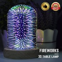 LED Night Light 3D Fireworks Jelly Fish butterfly adult Children Kids Baby Sleep Romantic colorful Led USB Novely Table lamp