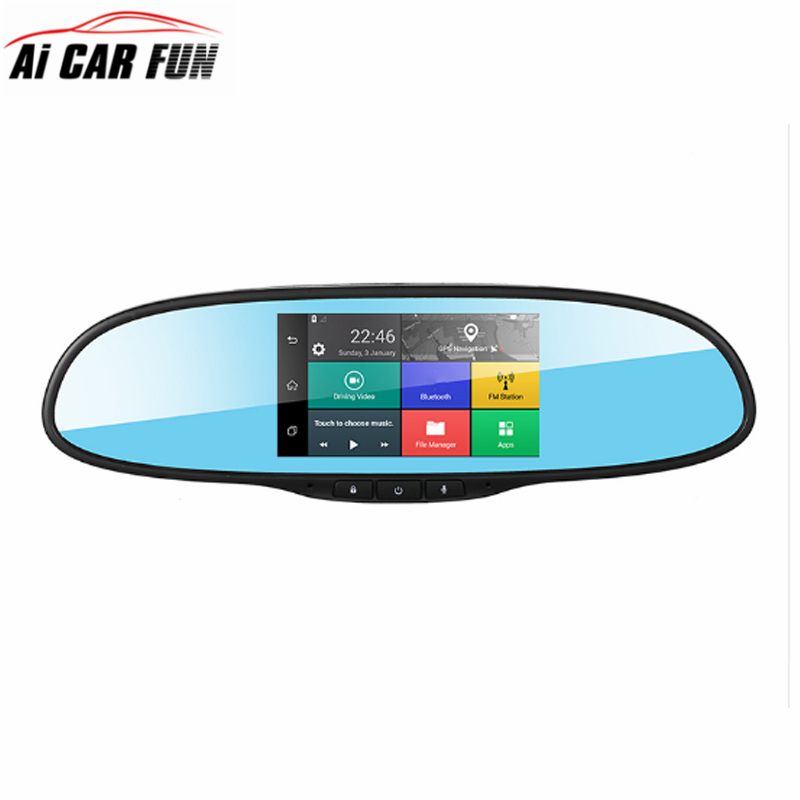 Touch Screen 3G Wireless Car DVRS with 1GB RAM 16GB ROM WiFi FM GPS Navigation Bluetooth Car Kits Car Mirror Android Cameras 7 inch 2 din bluetooth car stereo multimedia mp5 player gps navigation fm radio auto rear view camera steering wheel control