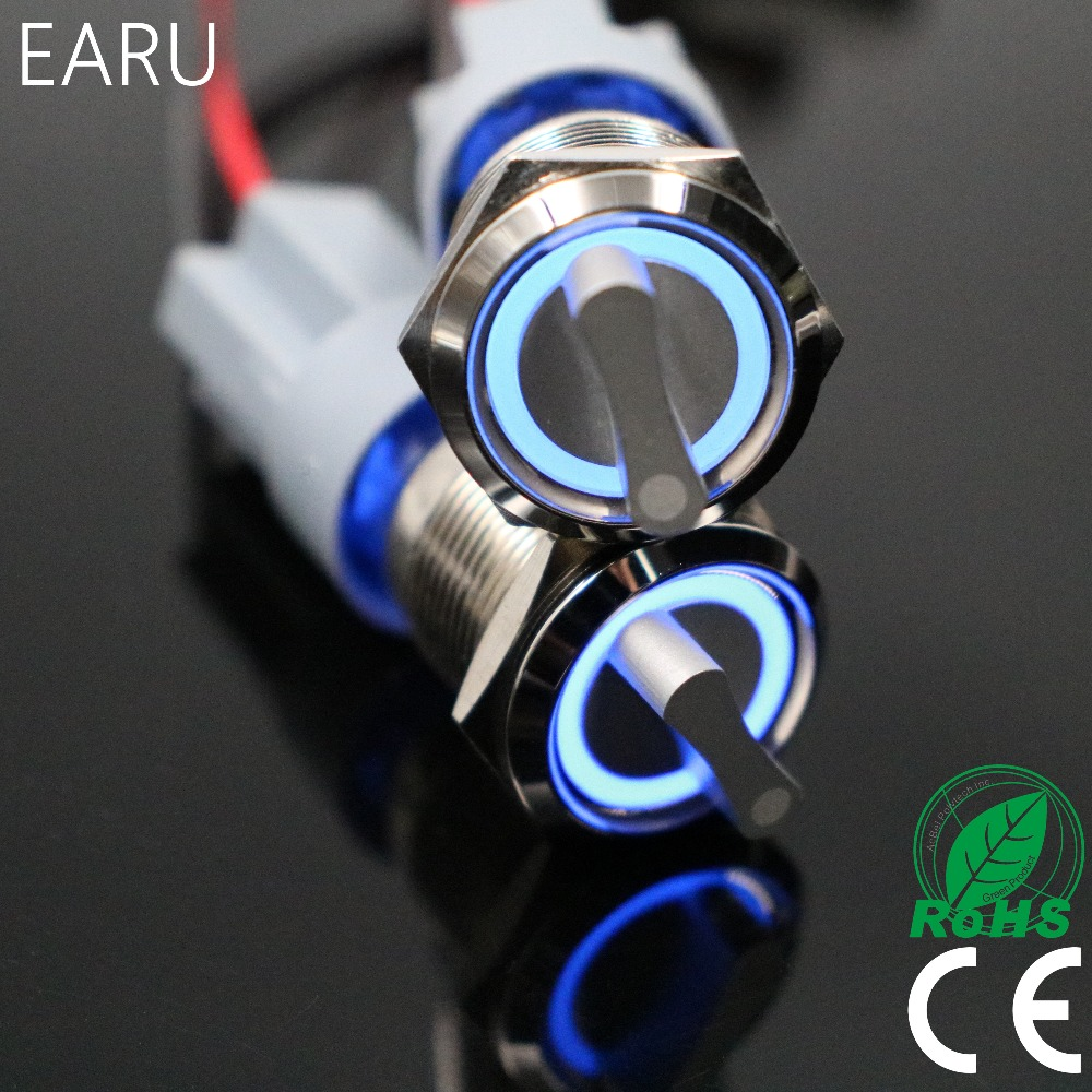 22mm 2 3 Position Switch Push Button Switch DPDT Illuminated Metal selector Rotary Switch with LED Waterproof Stainless Steel p87 rotary switch knob 22mm 2 position self locking latching switch 1 no maintained select selector xb2 bd21c xb2 bd21 bd41c