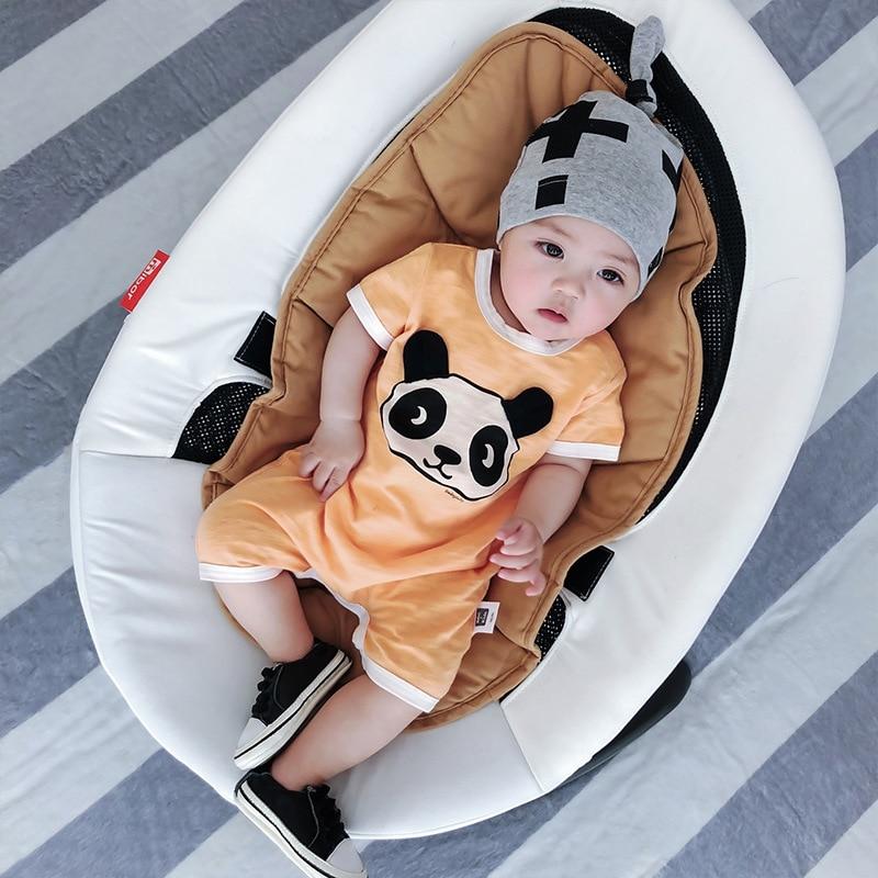 Celveroso 2018 cartoon panda baby Romper unisex katoen Korte mouw - Babykleding - Foto 2