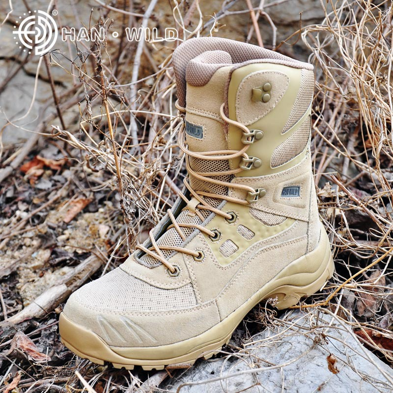 34c33856b0d Men Military Winter Boots Cow Leather Vintage Lace Up Mens Tactical Army Combat  Ankle Boots High Top Safety Desert Shoes