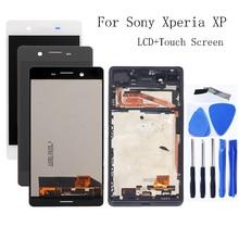 Para Sony Xperia XP F8131 F8132 Monitor LCD accesorios + marco para Sony Xperia X de alto rendimiento pantalla LCD digitalizador kit de