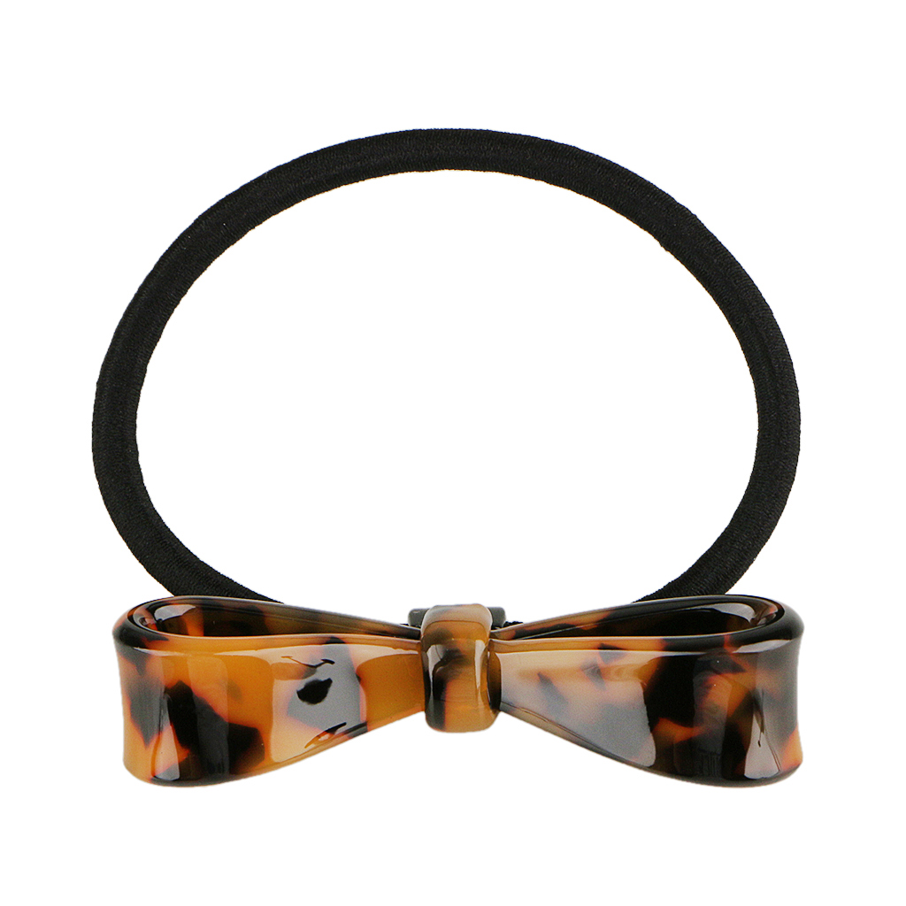Women Hair Accessories Acrylic Bowknot Leopard Print Headbands Elastic Hair Bands Ponytail Holder Girls Scrunchies Rope in Women 39 s Hair Accessories from Apparel Accessories